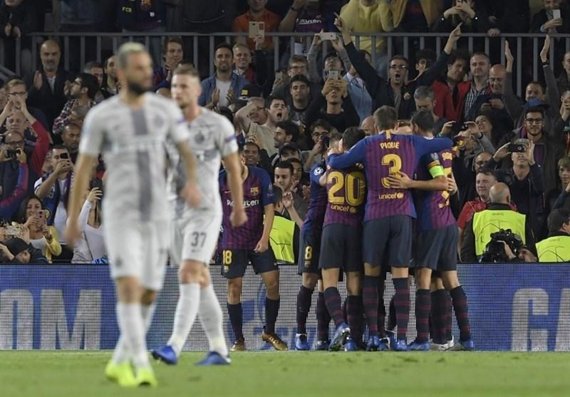لیگ قهرمان اروپا، بارسلونا بدون لیونل مسی اینتر را شکست داد، پاری سن ژرمن در خانه مقابل ناپولی متوقف شد
