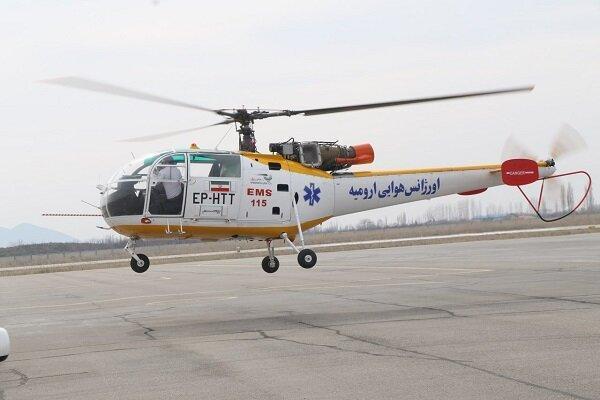 نخستین بالگرد اورژانس هوایی در ارومیه مستقر شد