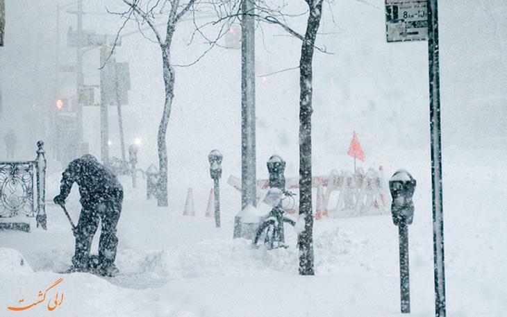 تصاویری دلهره آور از گردباد قطبی در کانادا و آمریکا