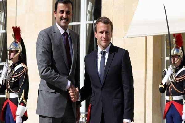 ماکرون و امیر قطر در 19 سپتامبر با یکدیگر دیدار می نمایند