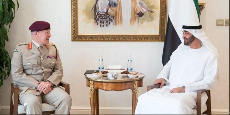 دیدار مقام ارشد نظامی انگلیس با ولی عهد ابوظبی