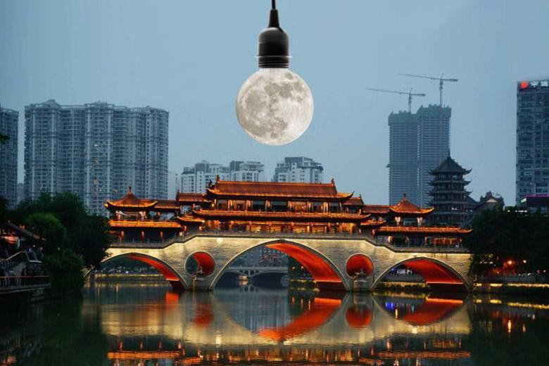 چین می خواهد برای روشنایی خیابان ها یک ماه مصنوعی را در مدار زمین قرار دهد