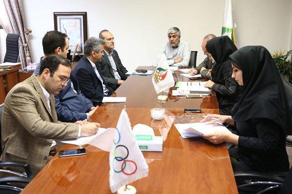 نشست مسئولان کمیته ملی المپیک با فدراسیون شمشیر بازی برگزار گردید