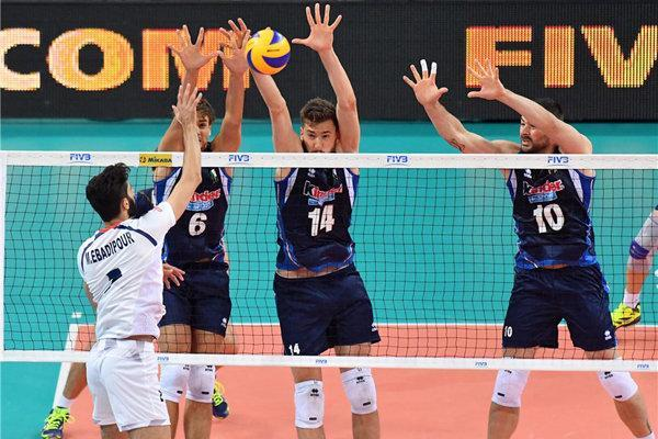 رویارویی تیم ملی ایران مقابل ایتالیا در روز دوم