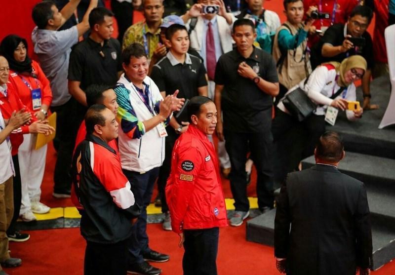 گزارش خبرنگار اعزامی خبرنگاران از اندونزی، دومین طلای میزبان در حضور رئیس جمهور این کشور
