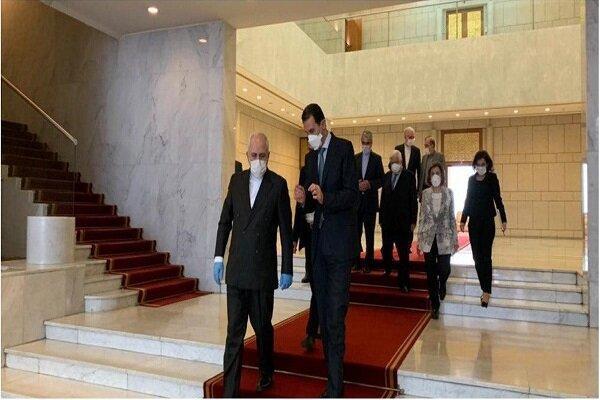 ظریف با بشار اسد ملاقات کرد