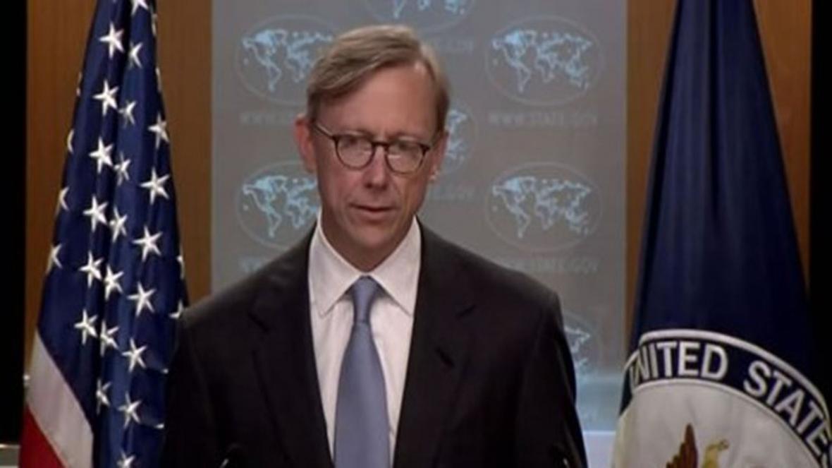 هوک: روسیه و چین از قطعنامه آمریکا حمایت نمایند