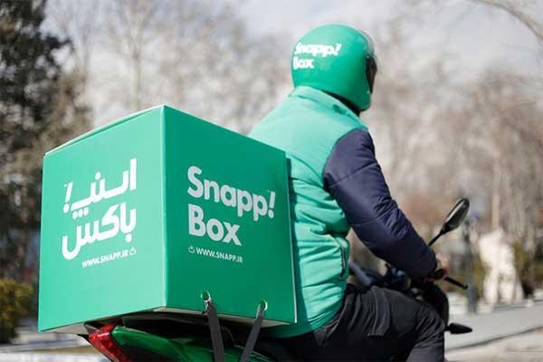 اسنپ باکس گزینه اول برای پیک موتوری تهران