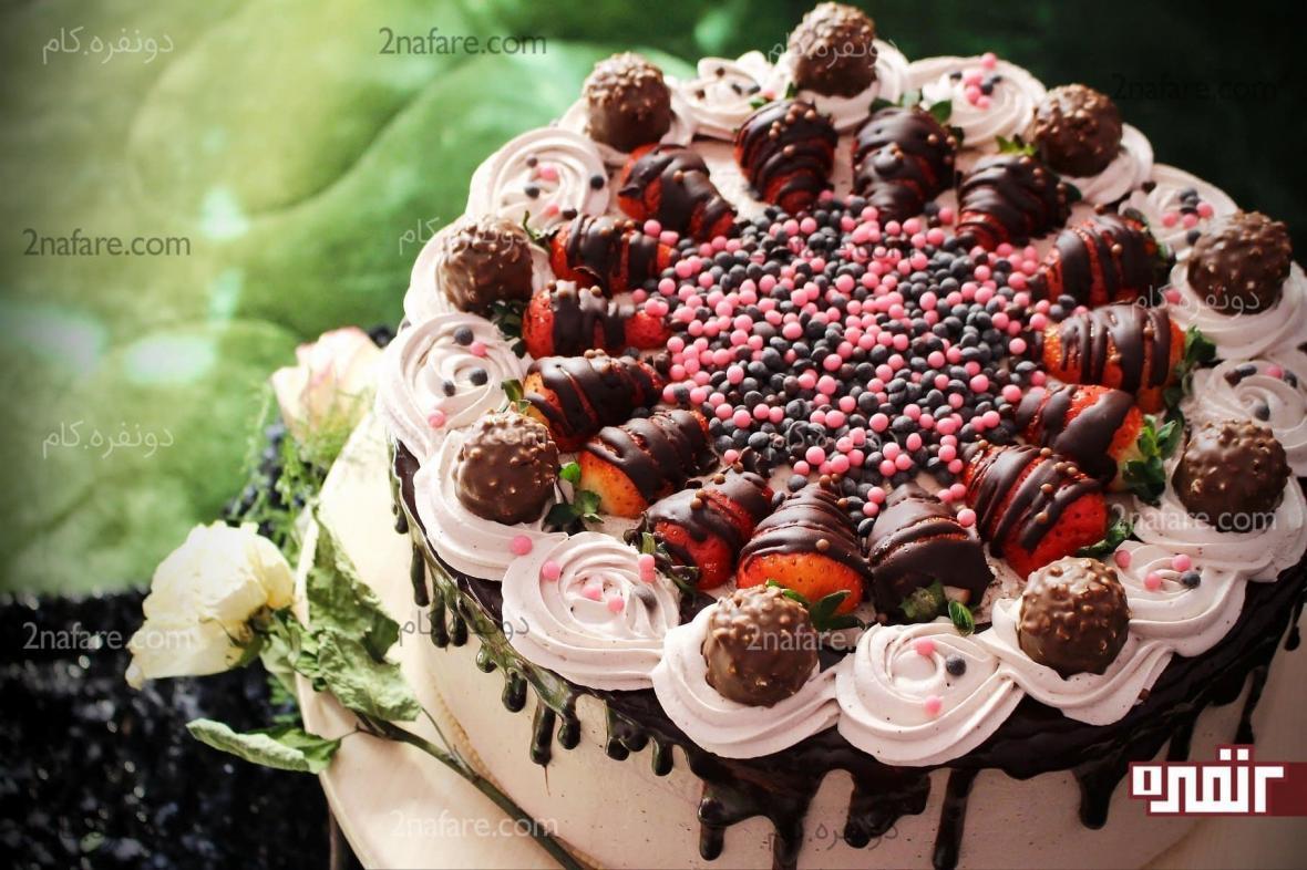 آموزش تزیین کیک با خامه مرحله به مرحله