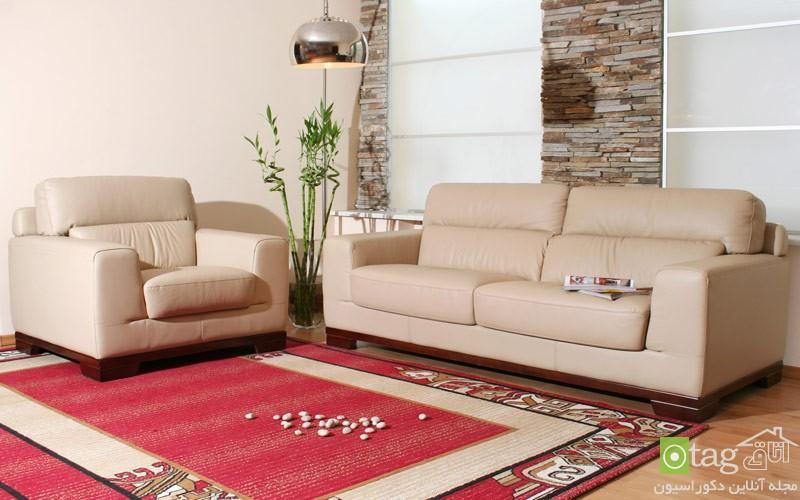 مدل قالی و فرش اتاق نشیمن و پذیرایی در طرح های مدرن و کلاسیک