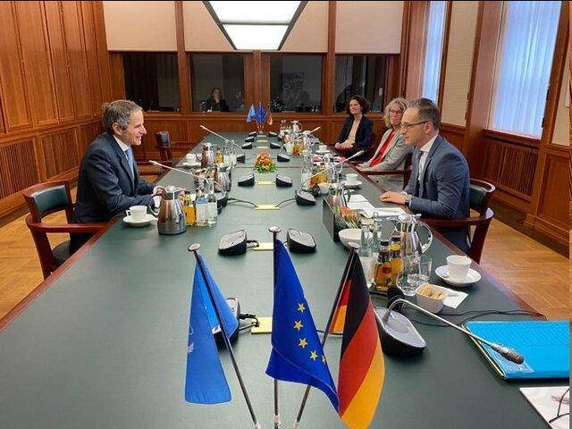 برجام محور گفت وگوهای رافائل گروسی و وزیر خارجه آلمان
