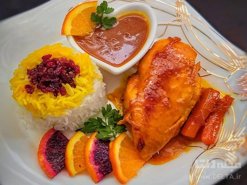 طرز تهیه خوراک مرغ پرتقالی
