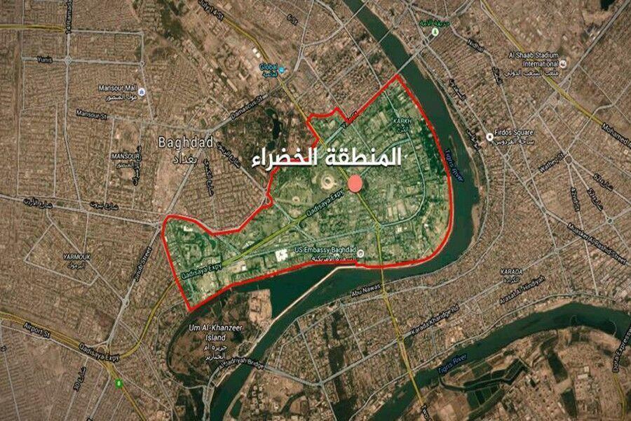 خبرنگاران اصابت موشک به منطقه سبز در مرکز بغداد
