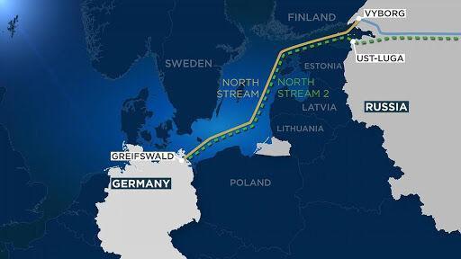 توقف شناور لوله&zwnjگذاری روسیه در نزدیکی پروژه نورد استریم 2