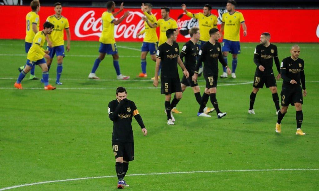 کادیز 2-1 بارسا، ادامه ناکامی بارسلونا در بازی های خارج از خانه