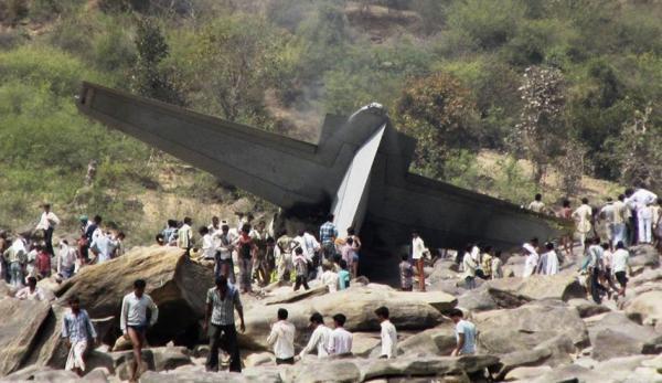 سقوط جنگنده نیروی هوایی هند و کشته شدن خلبان
