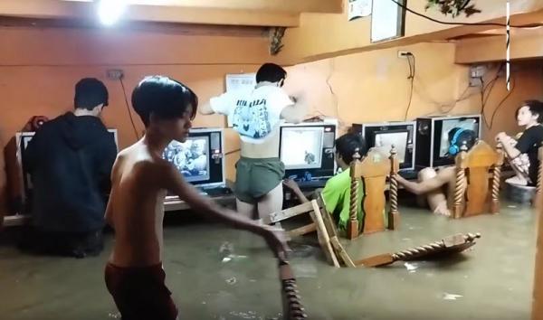 گیم نت سیل زده در فیلیپین و کوشش گروهی از گیمرهای مشتاق به ادامه بازی
