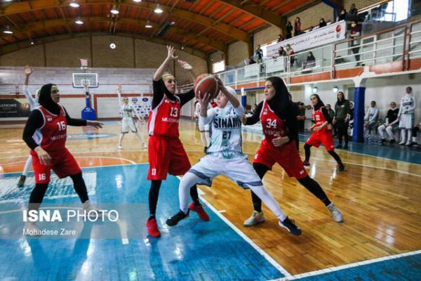 حضور تیم مولتی کافه مشهد در رقابت های لیگ یک بسکتبال بانوان