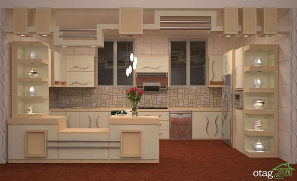 مدل ویترین آشپزخانه در انواع درب دار شیشه ای و بدون درب